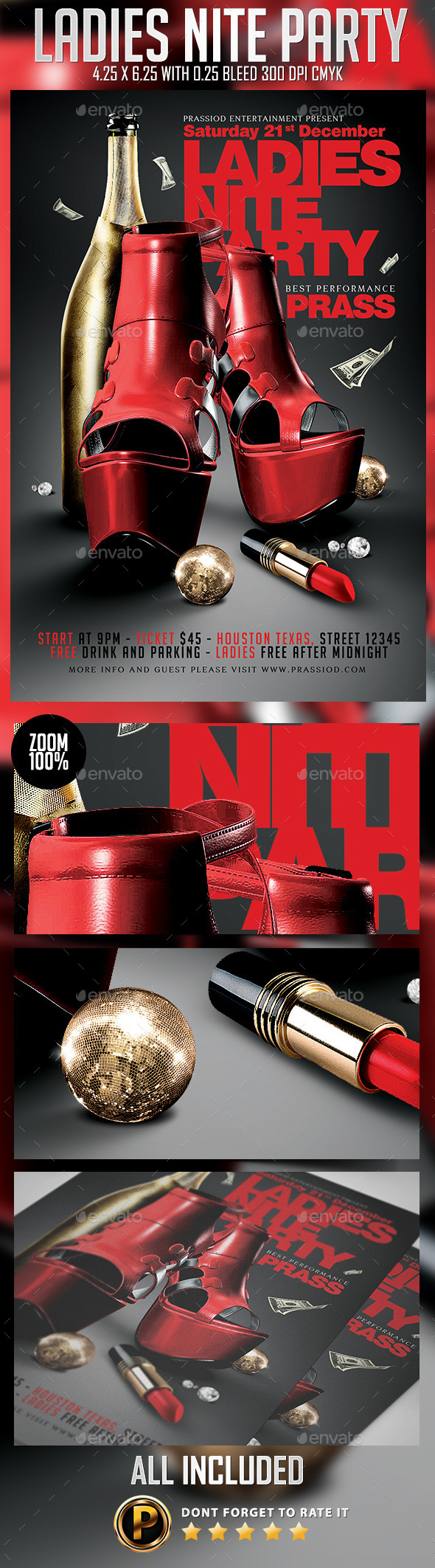 Ladies Nite Party Flyer Template - Clubs & Parties Events