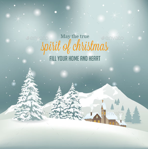 Retro Christmas Background - Christmas Seasons/Holidays