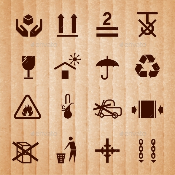 Handling and Packing Symbols - Miscellaneous Icons