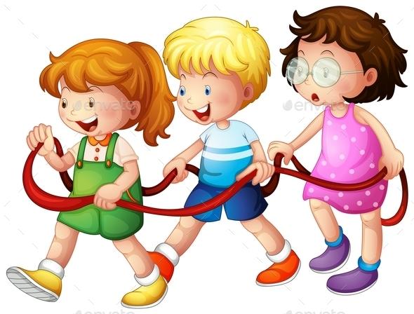 Three Happy Kids - People Characters