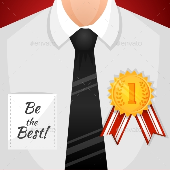 Businessman Winner Background - Backgrounds Decorative