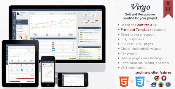 Image of Virgo - Responsive Bootstrap 3 Admin Template