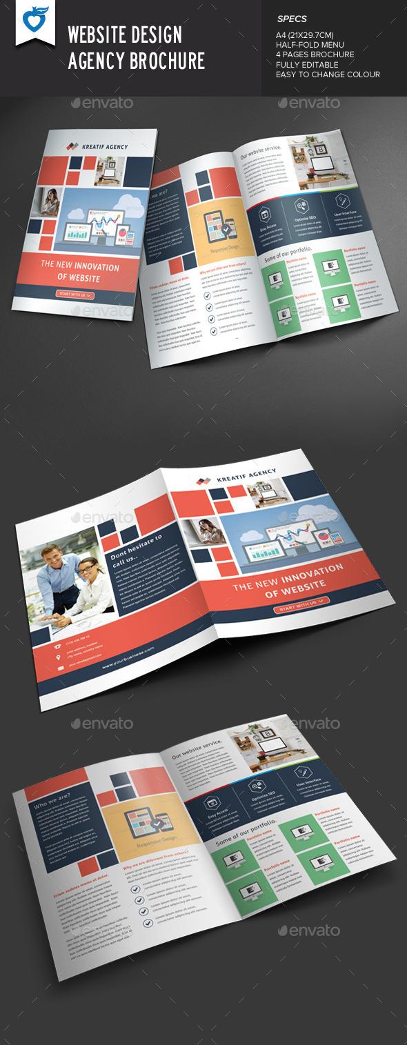Website Design Agency Brochure - Corporate Brochures