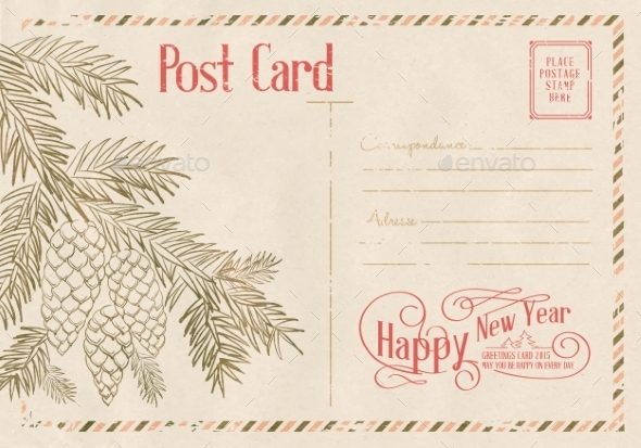 Backdrop of Postal Card. - Christmas Seasons/Holidays