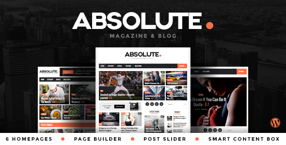 Absolute - The News, Blog and Magazine Theme