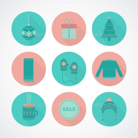 Vector Set of Holiday Christmas - Christmas Seasons/Holidays