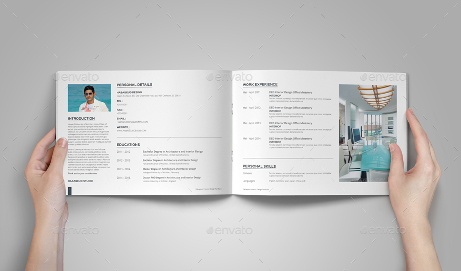 Interior Design Portfolio Template