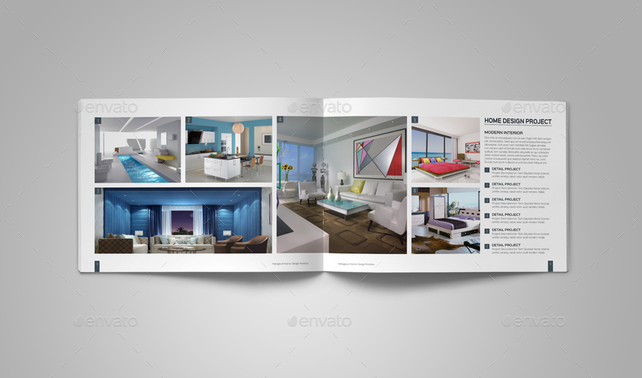Interior design portfolio template by habageud graphicriver for Indesign interior