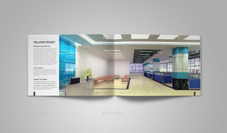 Interior design portfolio template by habageud graphicriver for Indesign portfolio template free