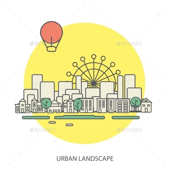 Urban Landscape - Backgrounds Decorative