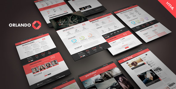 Orlando - Creative Infographics HTML Template - Corporate Site Templates