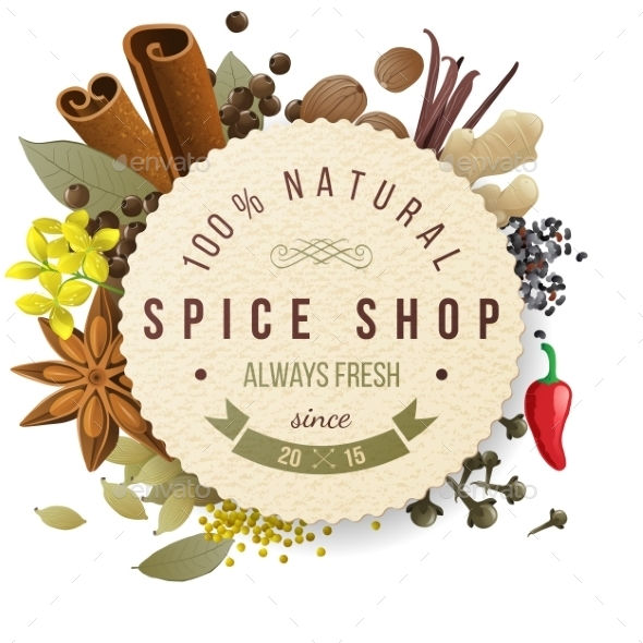 Spice Shop Emblem - Food Objects