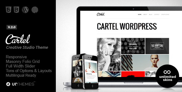 Cartel – Responsive Portfolio WordPress Theme