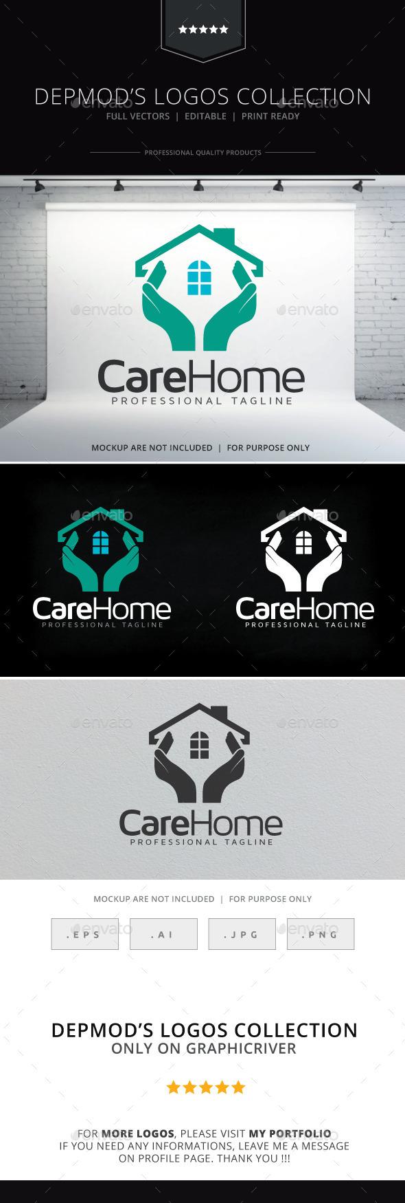 Care Home Logo - Buildings Logo Templates