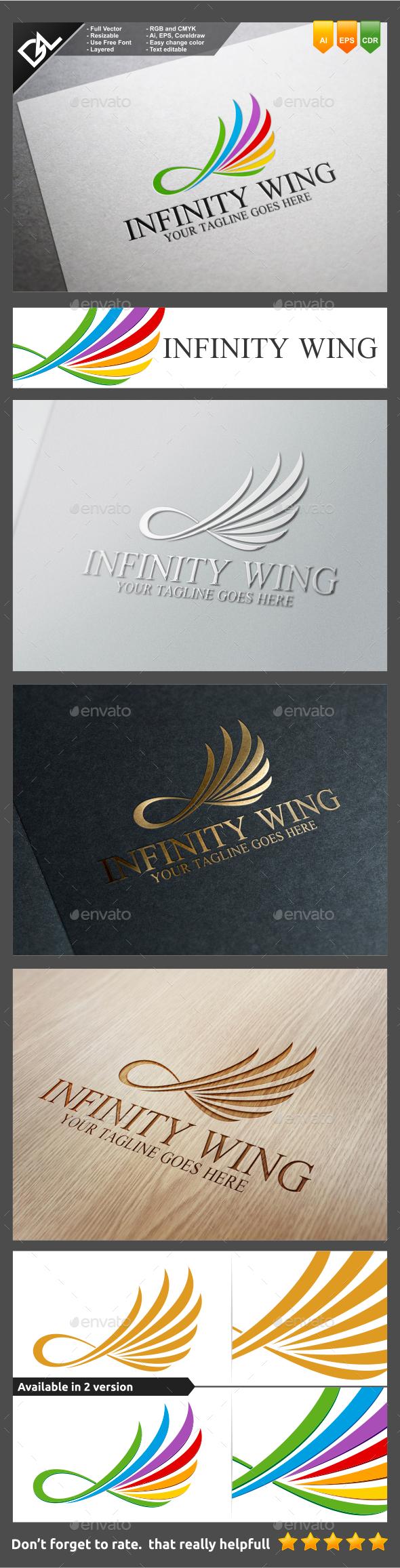 Infinity Wing - Symbols Logo Templates