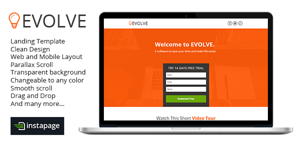 Evolve - Instapage Landing Page - Instapage Marketing