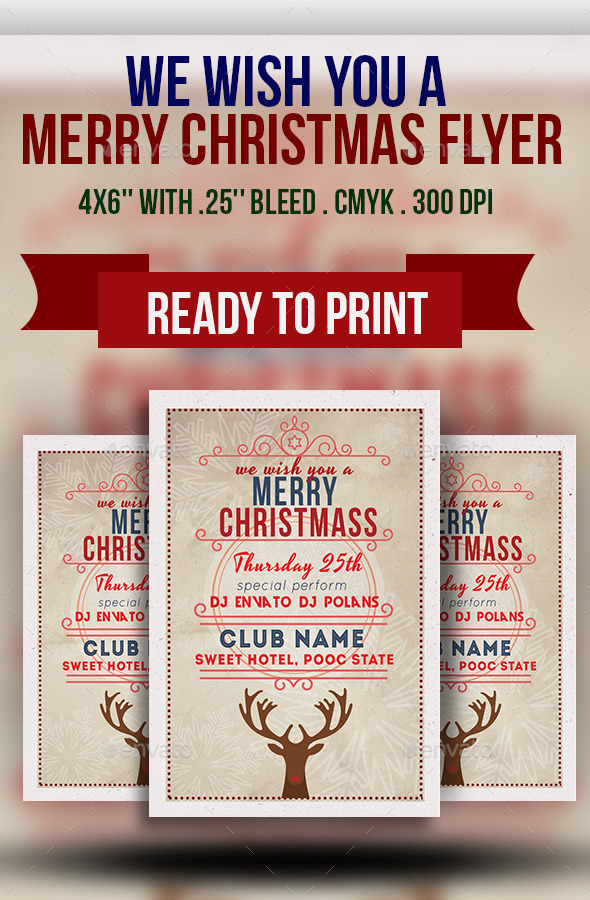 We Wish You a Merry Christmas Flyer - Holidays Events