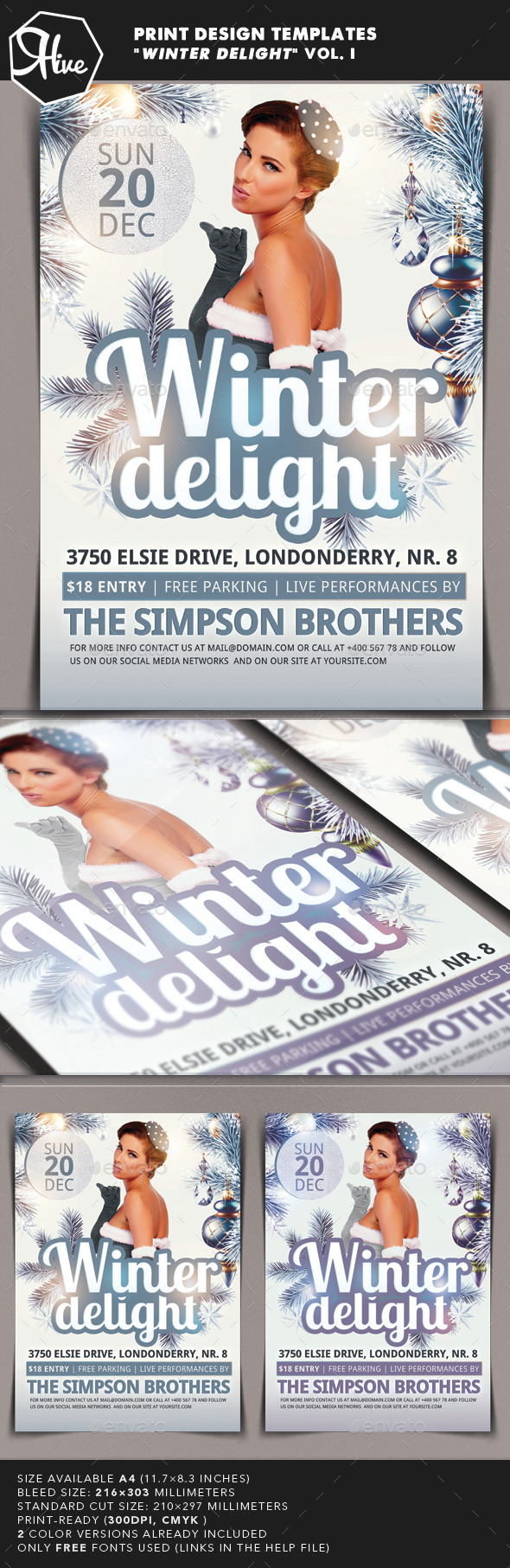 Winter Delight Flyer - Clubs & Parties Events