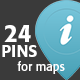 24 Map Pins - GraphicRiver Item for Sale