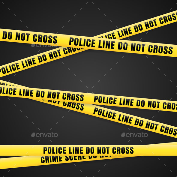 Criminal Scene Yellow Line - Backgrounds Decorative