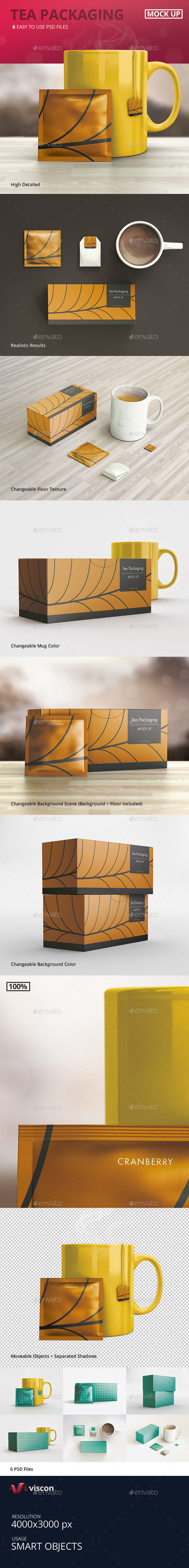 Tea Packaging Mock-Ups - Food and Drink Packaging