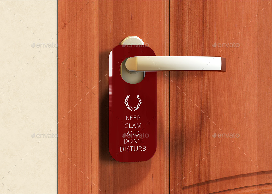 door hanger mock
