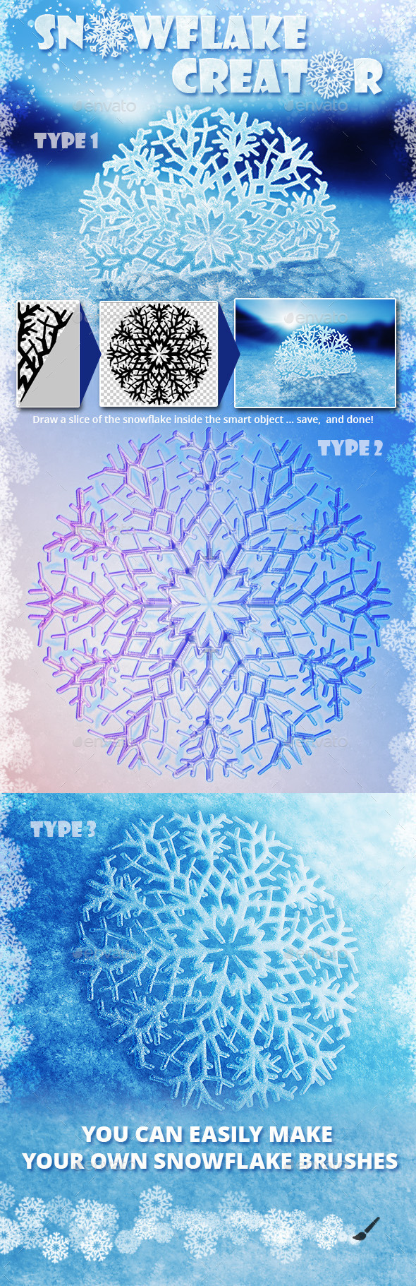 Snowflake Creator - Miscellaneous Print