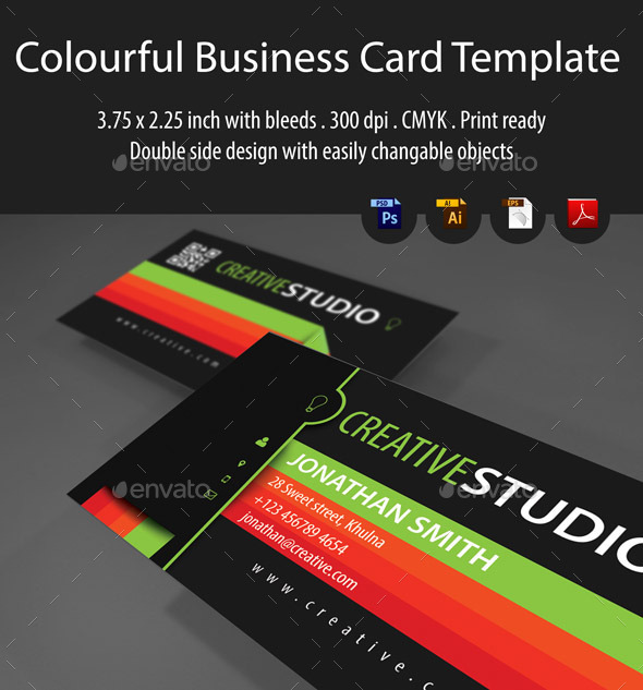 Colorful Business Card Template - Creative Business Cards