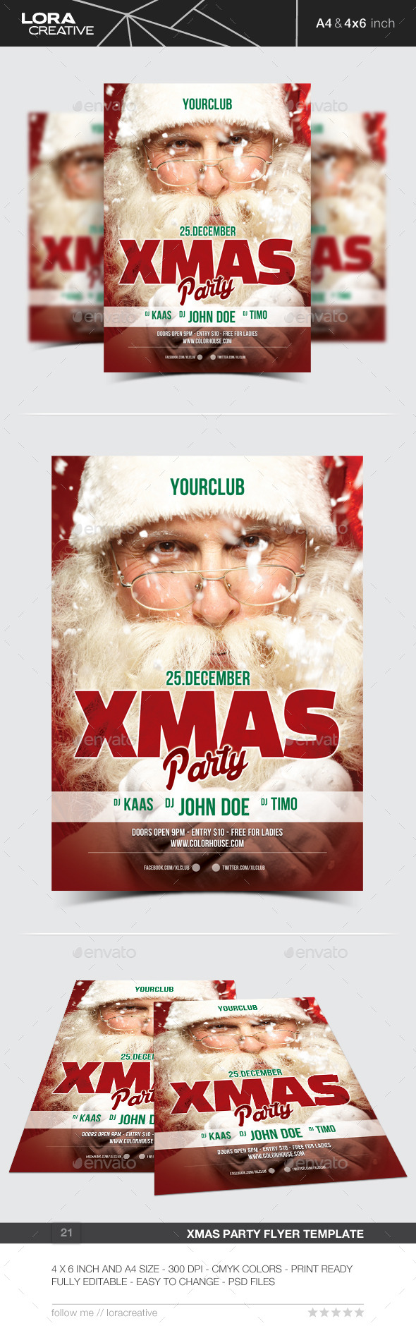 Xmas Party Flyer / Poster - 21 - Events Flyers
