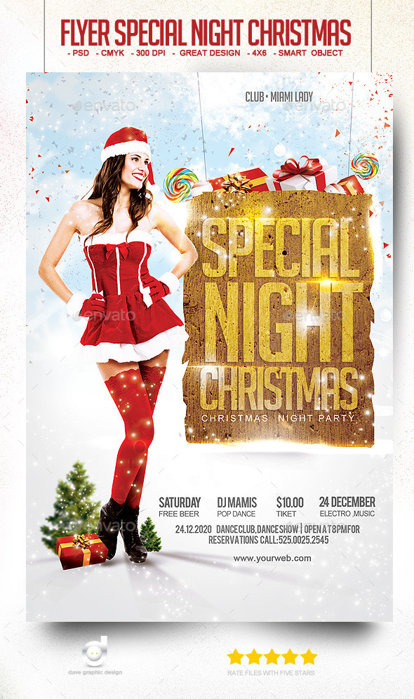 Flyer Special Night Christmas - Clubs & Parties Events