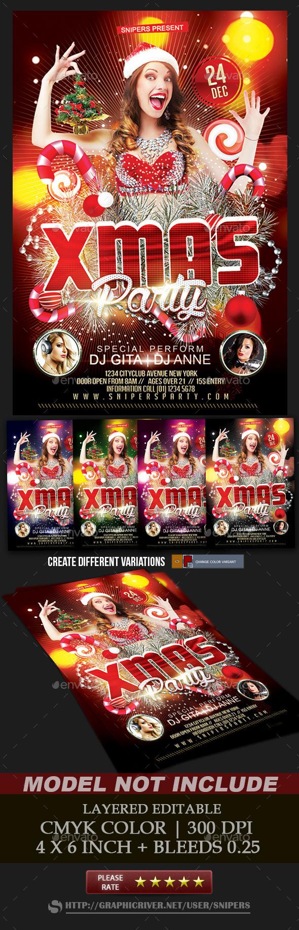 Xmas Party Flyer - Events Flyers