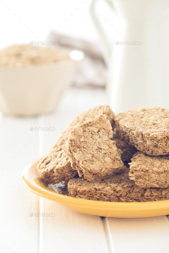 wholemeal crackers - Stock Photo - Images