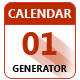 JSX Calendar Generator for Adobe Photoshop - GraphicRiver Item for Sale
