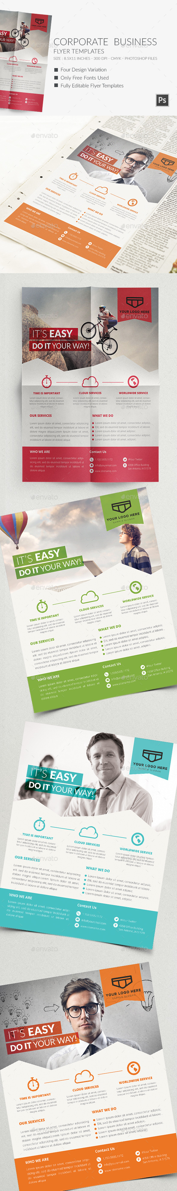 Corporate Business Flyer Templates 2 - Commerce Flyers