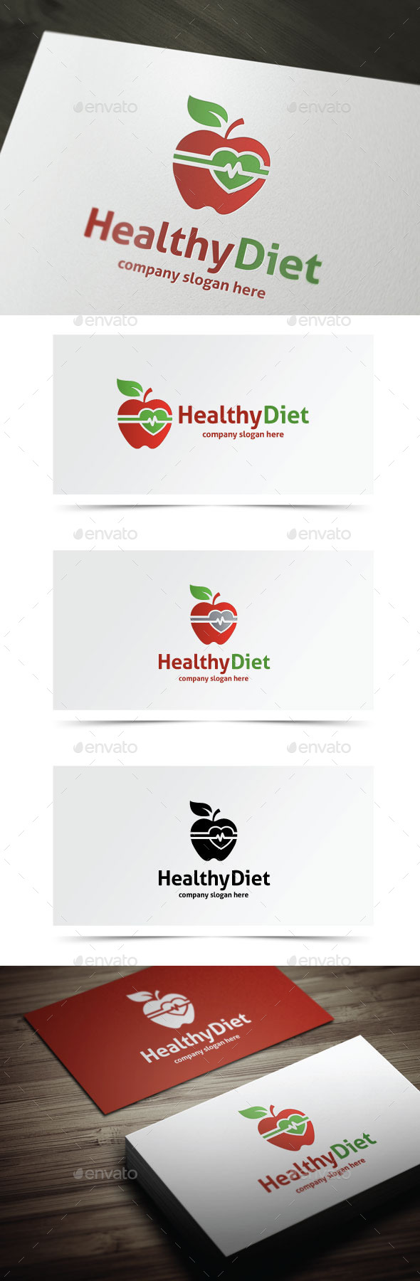 Healthy Diet - Objects Logo Templates