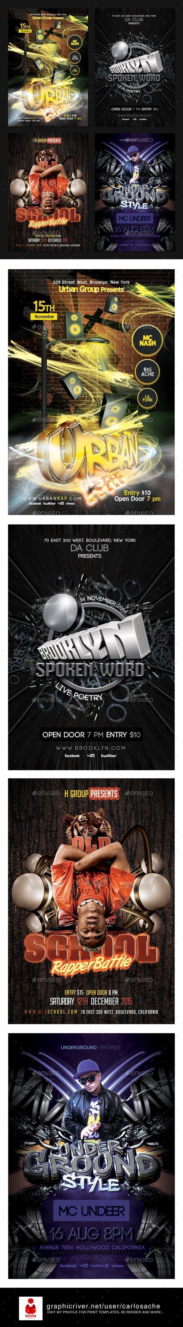 Rap - Flyer Bundle - Clubs & Parties Events