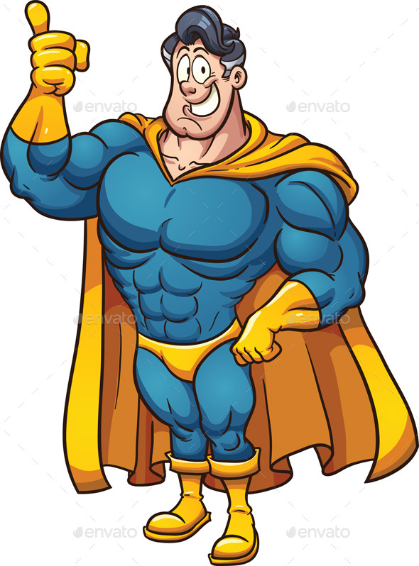 Cartoon Superhero - People Characters