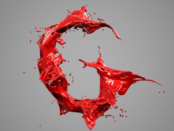 Alphabet Liquid: G - 3DOcean Item for Sale