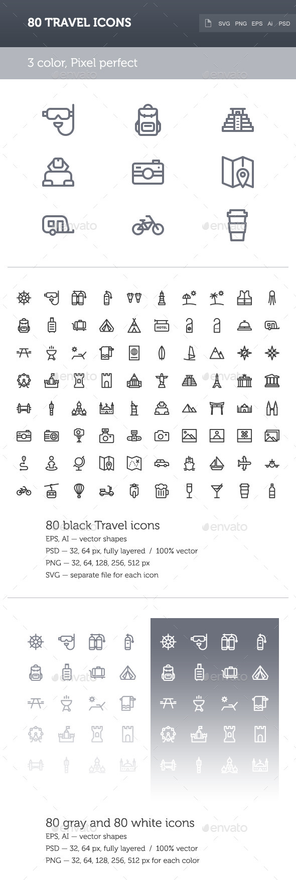 Travel Icon Set - Objects Icons