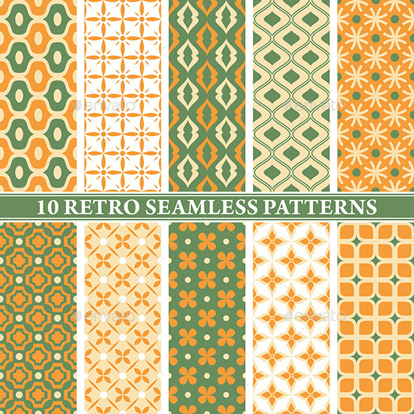Retro Seamless Patterns - Patterns Decorative