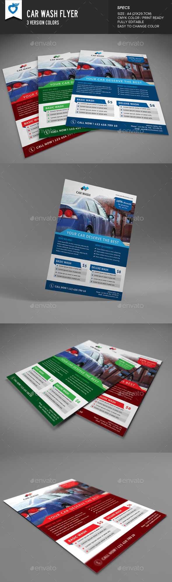 Car Wash Flyer - Commerce Flyers