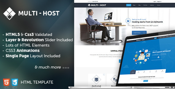Multi Host - Responsive Hosting Template - Hosting Technology