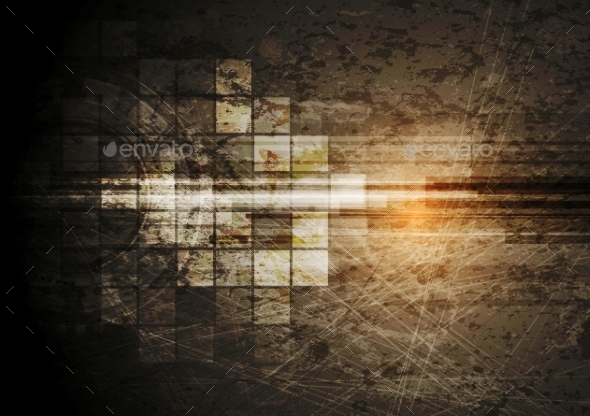 Grunge Tech Background - Backgrounds Decorative