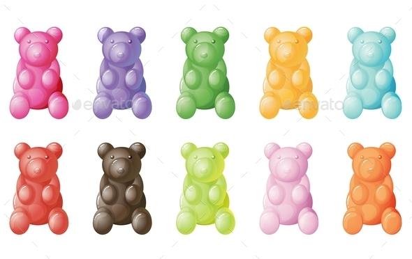 Gummy Bears - Food Objects