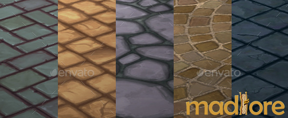 Handpainted Floor Textures Pack 01 - 3DOcean Item for Sale