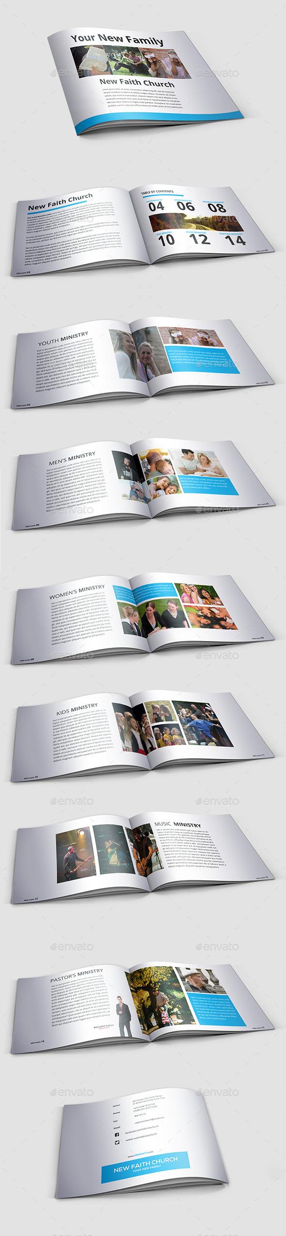 Modern Minimal Church Brochure - Informational Brochures