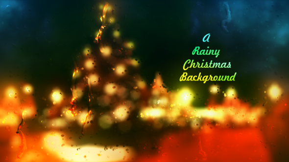 A Rainy Christmas Background by DigitalFeather | VideoHive