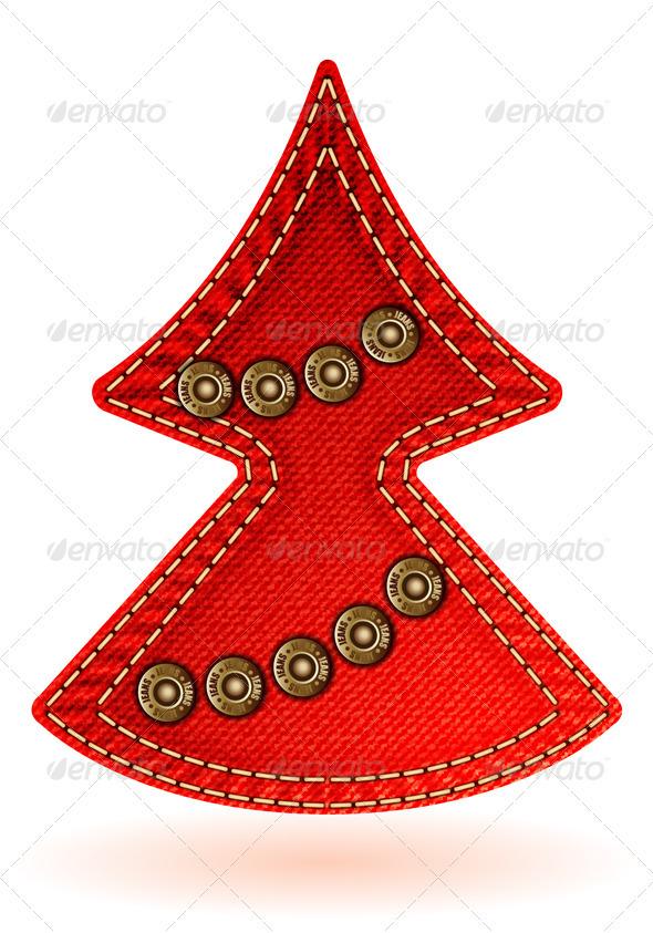 Christmas Jeans Texture - Christmas Seasons/Holidays