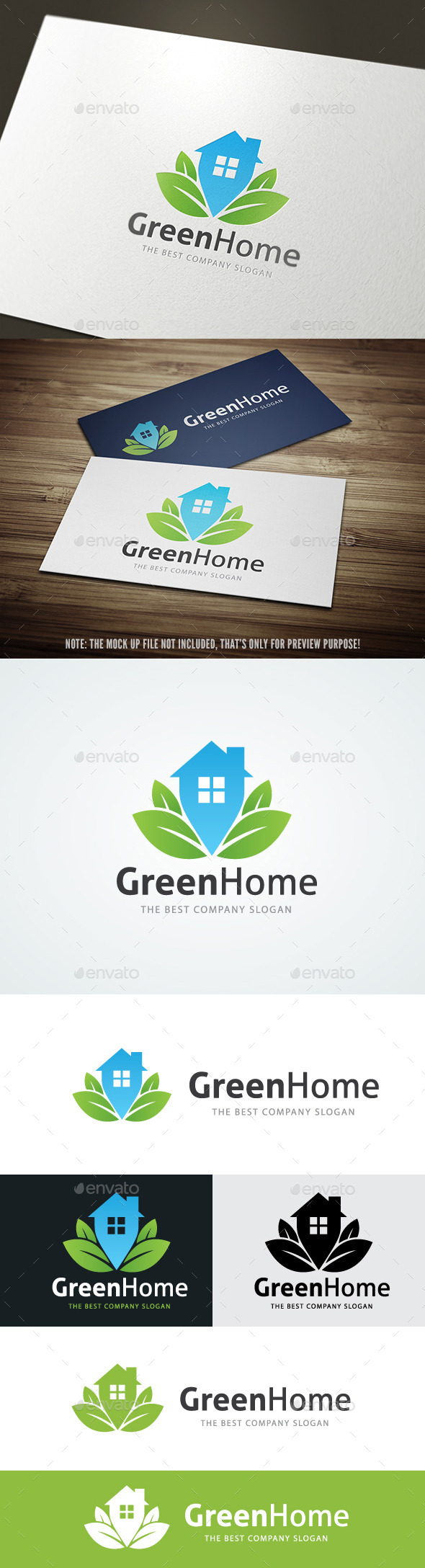 Green Home - Buildings Logo Templates