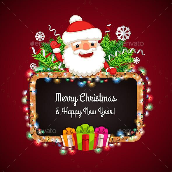 Christmas Banner with Santa Claus - Christmas Seasons/Holidays
